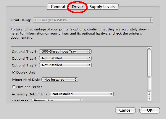 printer info