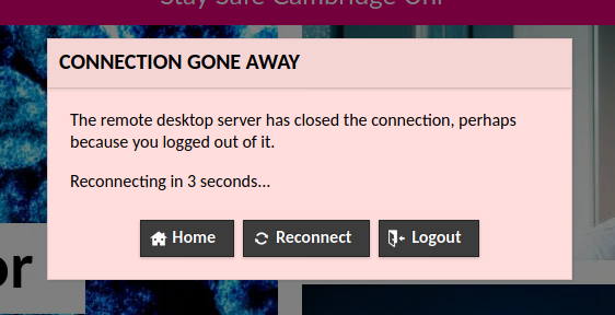 Remote has closed the connection